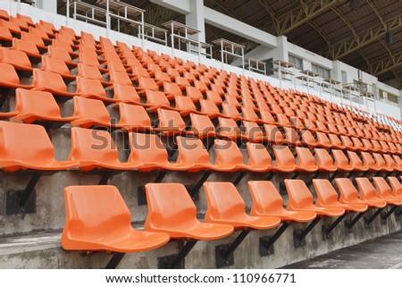 empty seat in stadium - stock photo