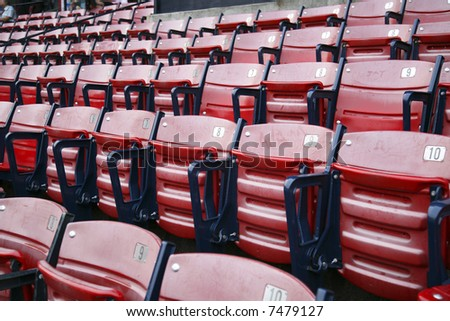 Empty seats at Fenway park - stock photo