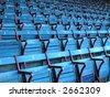 Empty seats at Fenway Park, Boston. - stock photo