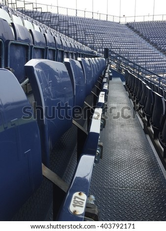 Empty seats at sport stadium - stock photo