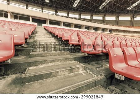 Empty seats at the Stadium - stock photo