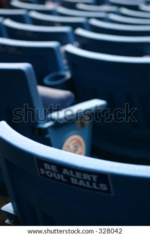 Empty seats at Yankees Stadium