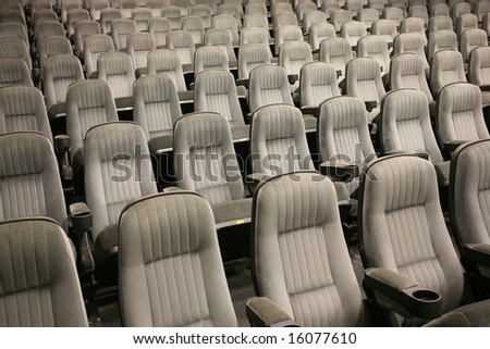 Empty seats (cinema, theater, conference, concert) - stock photo