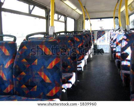 Empty seats in a bus - stock photo