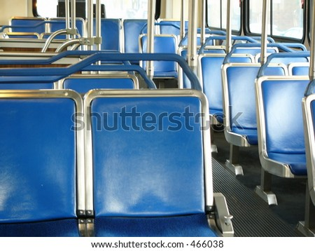 empty seats in a bus