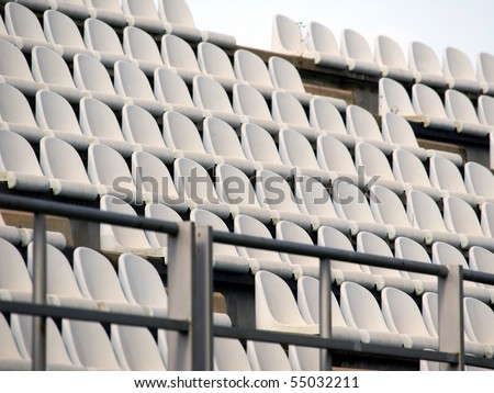 empty seats in a stadium