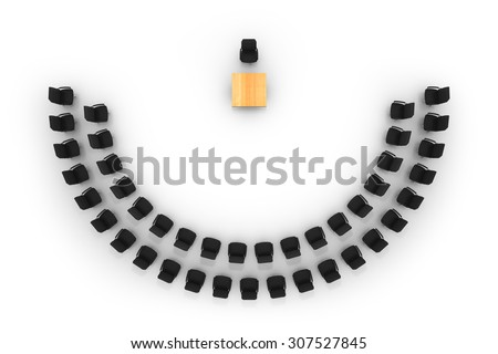 Empty seats in auditorium - stock photo