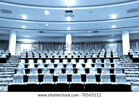 Empty seats in auditorium - stock photo