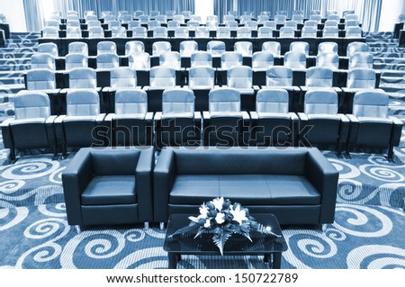 empty seats in conference center - stock photo