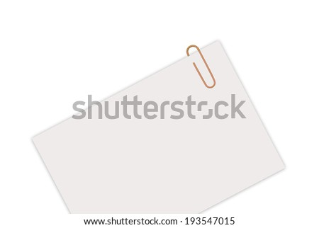 Empty sheet with paperclip