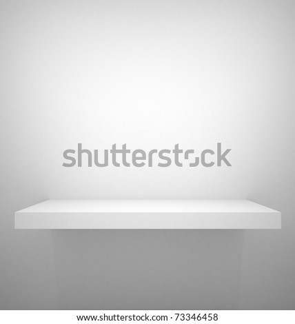 Empty shelf - stock photo