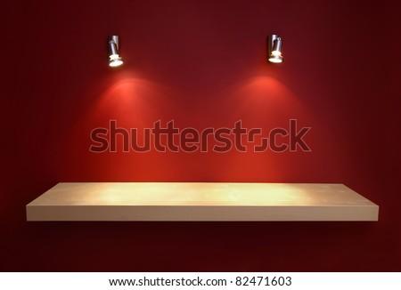 Empty shelf - stock photo