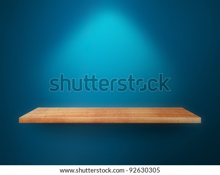 Empty shelf on wall
