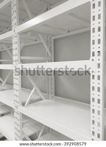 Empty shelves - stock photo