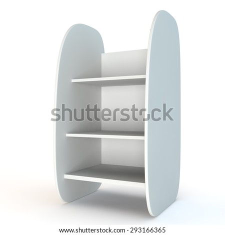 Empty shop shelves with the rounded edges - stock photo