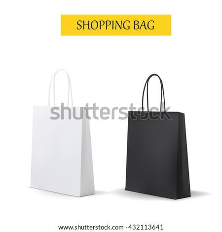 Empty Shopping Bag for advertising and branding. MockUp Package