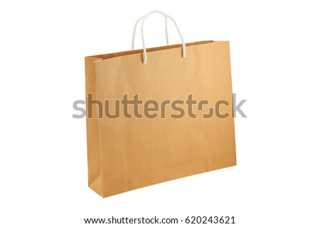 Two Brown Paper Bag Design Stock Vector 111836210 - Shutterstock