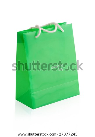 Empty shopping bag. the isolated background
