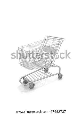 Empty shopping cart. Part of a series.