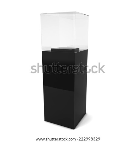 Empty showcase. 3d illustration isolated on white background - stock photo