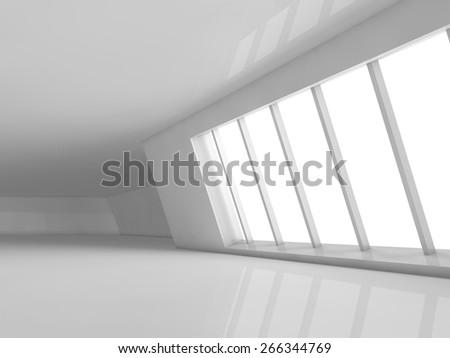 empty showroom 3D rendering - stock photo
