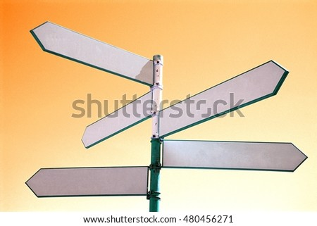 Empty Sign Post