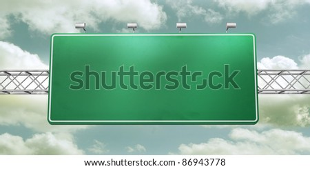 empty sign - start storm background - stock photo