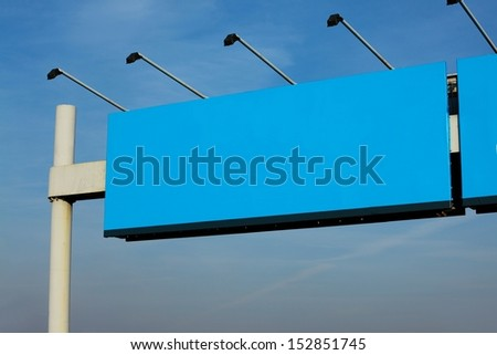 Empty signboard on the highway - stock photo