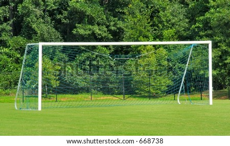 Empty Soccer Goal - stock photo