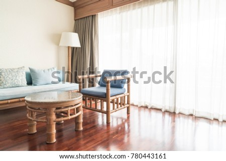 empty sofa in living room interior for background