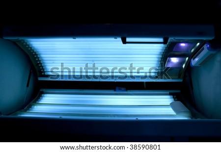 Empty solarium - stock photo