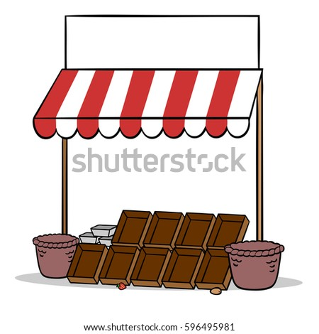 Empty Sold Out Market Stand Farm Stock Illustration ...