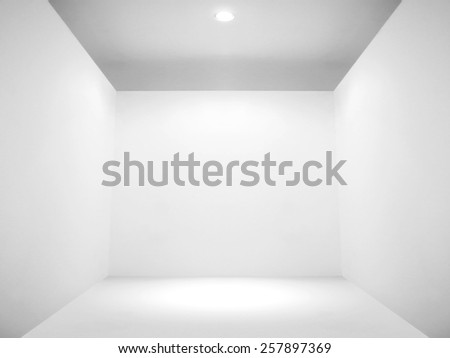 Empty space and blank wall - stock photo