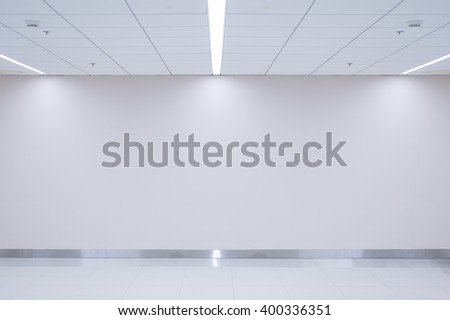 Empty space (empty wall in a bright room) - stock photo