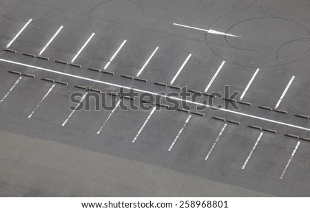 Empty Space in a car parking Lot  - stock photo