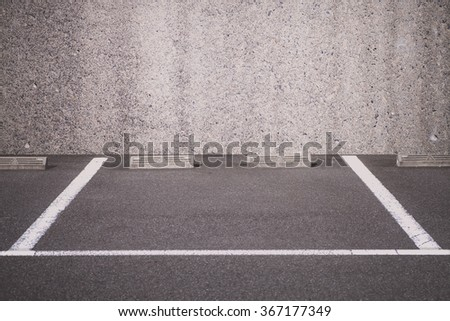 Empty space of outdoor car parking lot  - stock photo