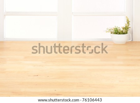 Empty space of the kitchen interior your could create or putting your kitchenware into it - stock photo