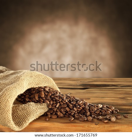 empty space on desk of coffee  - stock photo