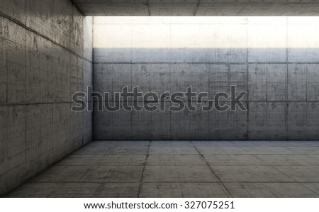 Empty space with concrete wall, Concrete abstract background - stock photo