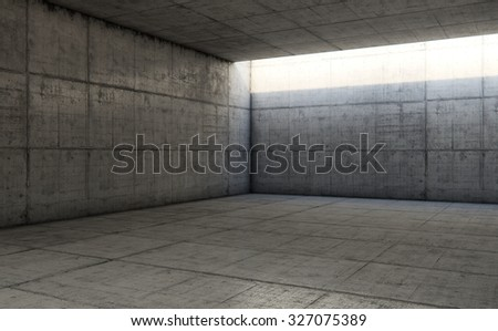 Empty space with concrete wall, Concrete abstract background