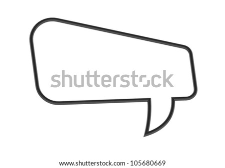 Empty Speech Bubble - stock photo