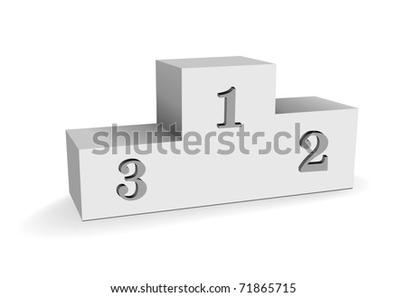 empty sport winning pedestal or stand on white background