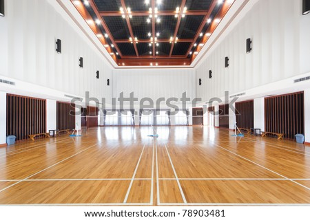 Empty sports court - stock photo