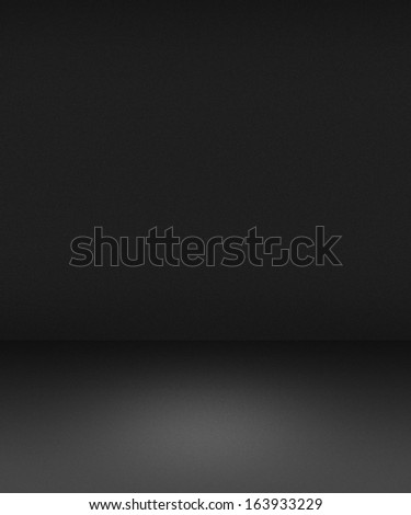 Empty Spotlight Interior Gray Background - stock photo