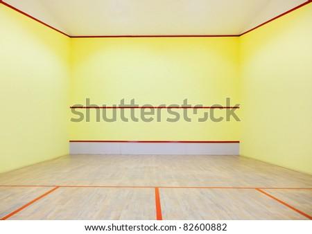 Empty squash court - stock photo
