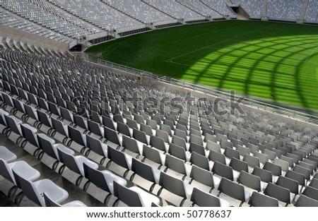 Empty stadium - stock photo