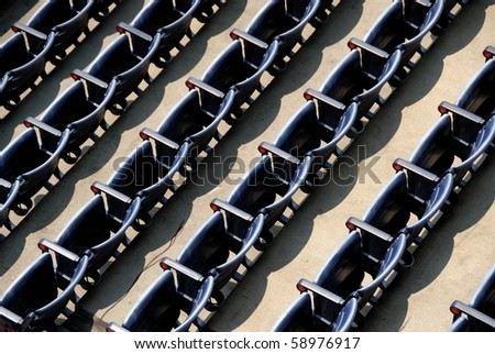 Empty Stadium Seats At Major League Baseball field