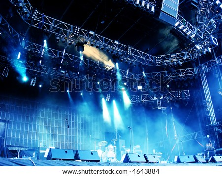 Empty Stage Before A Concert - stock photo