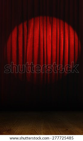 Empty stage before performance - stock photo