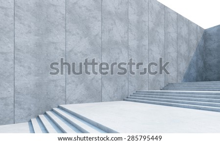 empty stairs in the city - stock photo